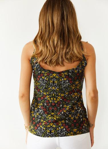 XHAN Multi Desenli Askılı Bluz 0Yxk2-43918-09 Renkli